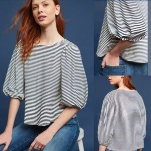 Anthropologie Eri Ali Sal Boatneck Striped Top XS